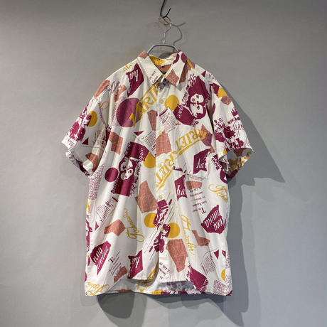 80s  s/s movie patterned shirt