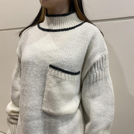 high neck acrylic knit sweater