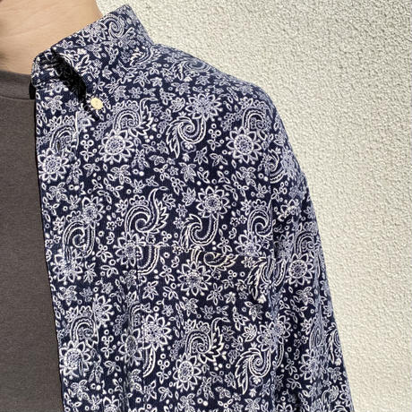 flower patterned L/S corduroy shirt