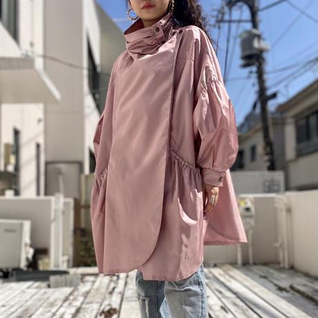 80s~ dolman sleeve shiny coat