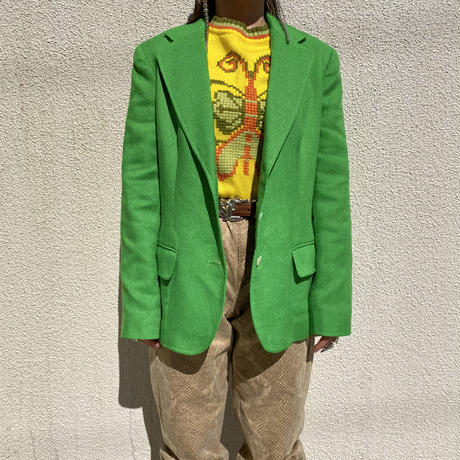80s〜tailored jacket (GRN)