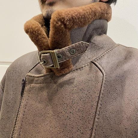 sheepskin B-3 long type jacket