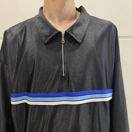 90s~ oversized half zip  shirt