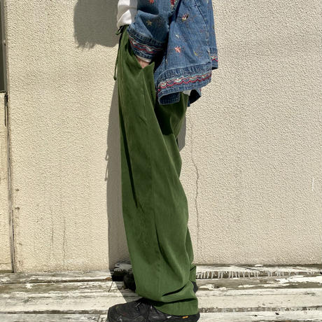old fake suede easy pants