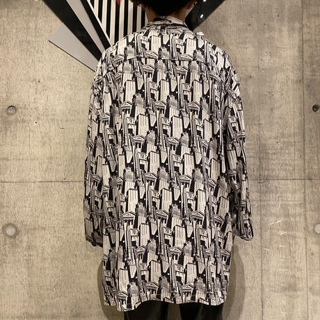 """GUESS"" oversized rayon shirt"