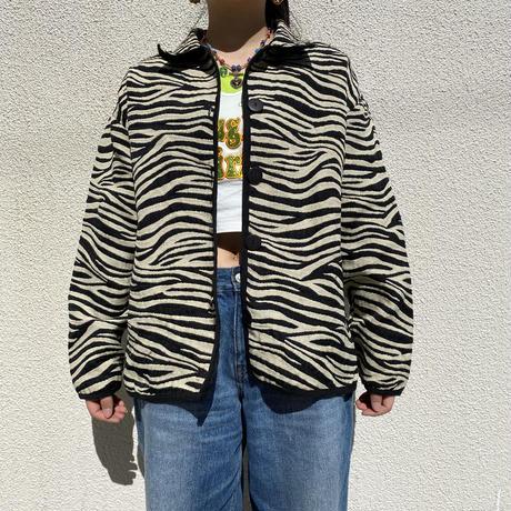 90s zebra patterned shirt