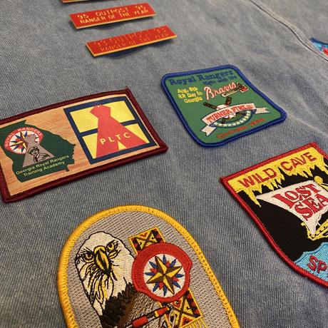 90s patch design denim vest