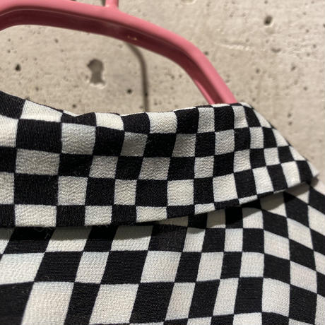 L/S checker patterned rayon shirt