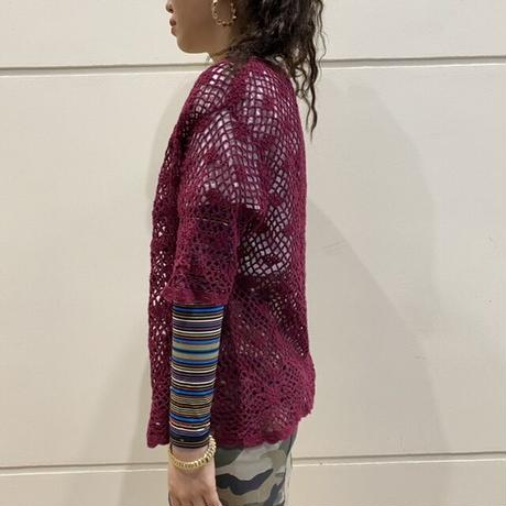 old crochet knit cardigan