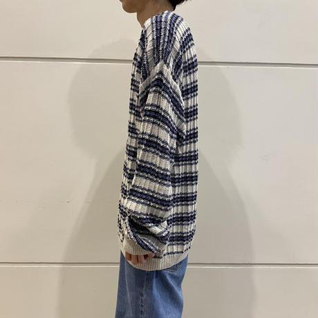 90s ramie × cotton knit sweater