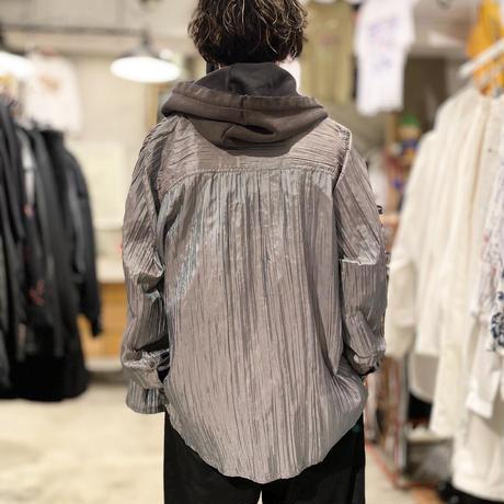 90s wrinkles design shiny shirt