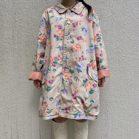 reversible flower patterned orversize jacket