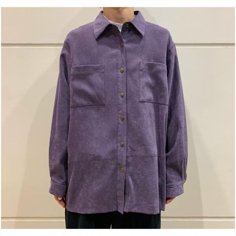 90s fake suede design shirt