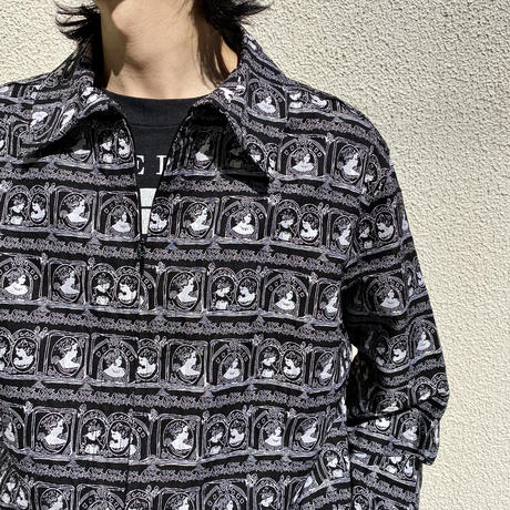 90s〜 CHICO'S all patterned silk jacket