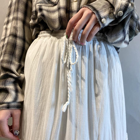00s〜tiered design white long skirt