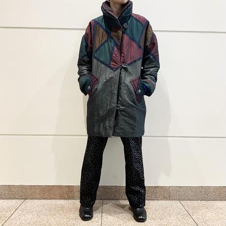 90s shiny crazy patterned coat
