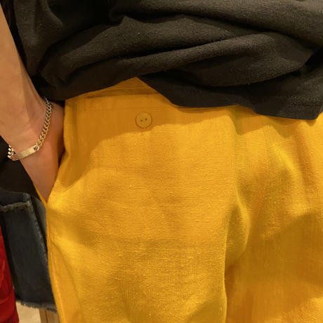 90s ramie×cotton 2tucks slacks pants