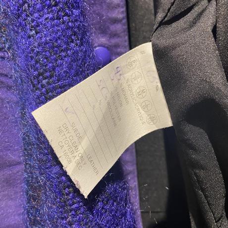 80s~ knit & leather jacket