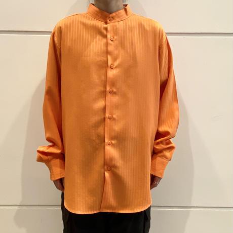 90s L/S band collar  shirt