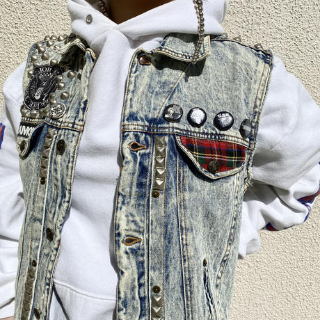 80s〜90s remake denim vest