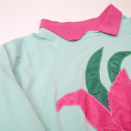 80s with collar sweat shirt