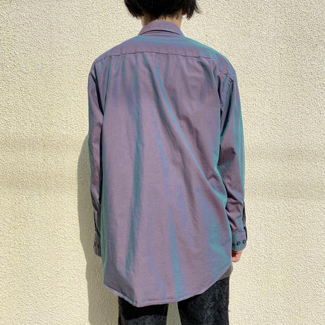 L/S cotton shiny shirt