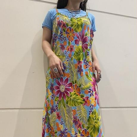 80s~ flower patterned long camisole