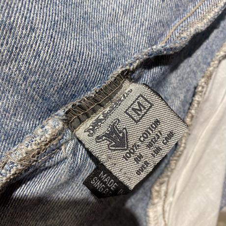 90s zip up denim jacket