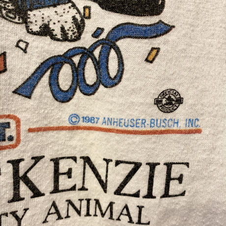 "80s ""Spuds Mackenzie BUD LIGHT"" T-shirt"