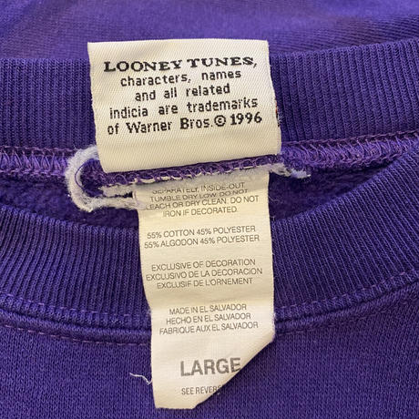 "90s ""LOONEY TUNES"" printed sweat shirt"