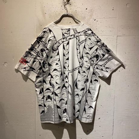 90s wolf printed T-shirt