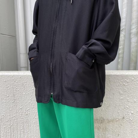 90s〜zip up design shirt