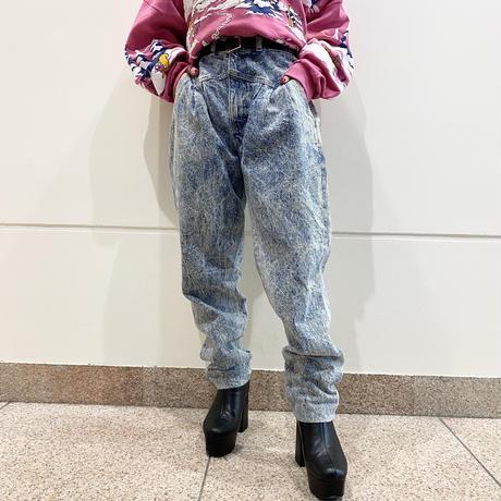 80s~ high-waist chemical  denim pants
