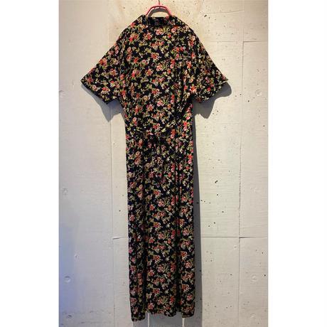 open collar long shirt dress