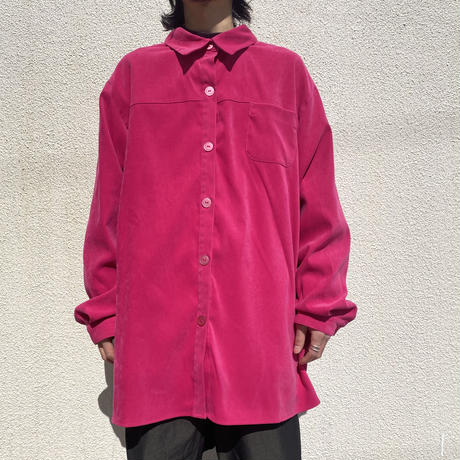 90s oversized fake suede shirt