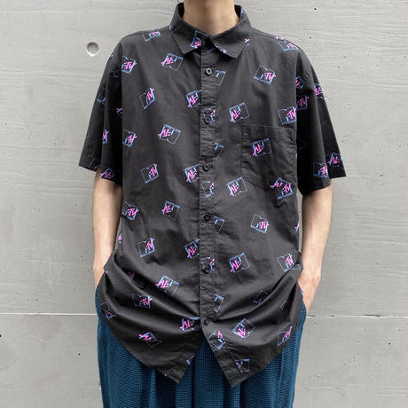 """MTV"" s/s logo patterned shirt"