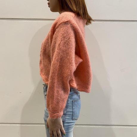 80s mohair blend knit cardigan