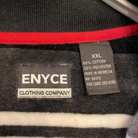 90s oversized velours rugger shirt