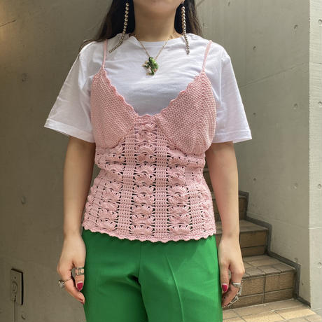 old crochet knit camisole