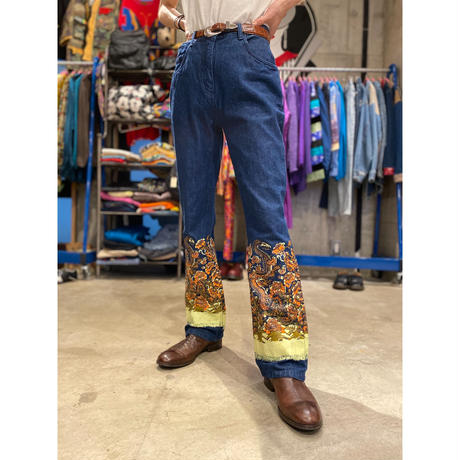 90s 〜design flare denim pants