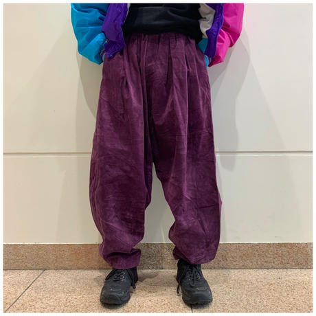 90s suede wide easy pants