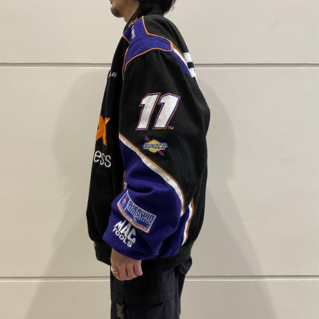 "90s~ ""FedEx"" oversized racing jacket"