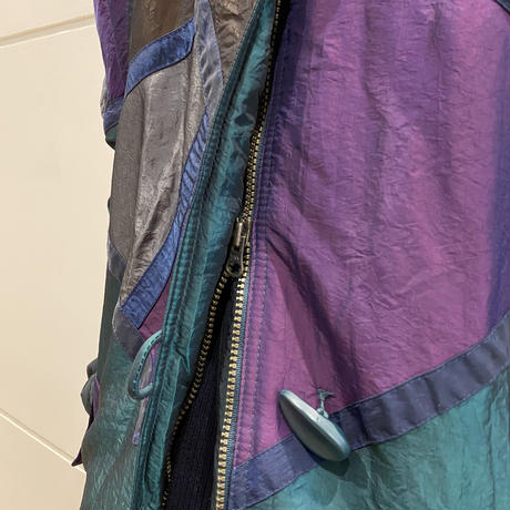 80s nylon shiny puffer coat