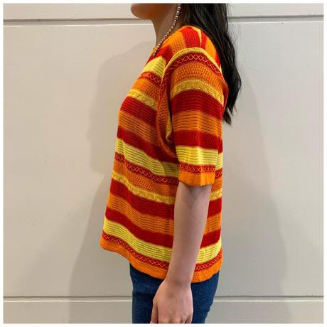 90s border knit t-shirt