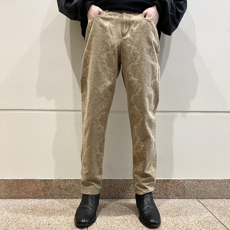 90s~ python patterned taperd pants