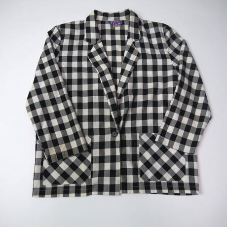 Bloc check jacket