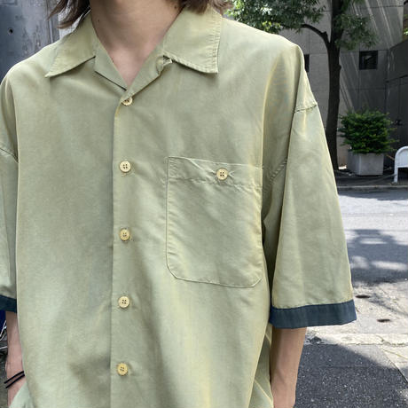 oversized bi-color design S/S shirt
