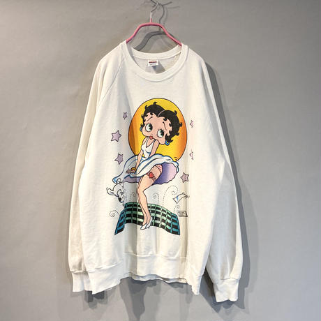 "old printed sweat shirt ""BETTY BOOP"""