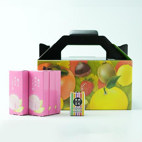 \期間・数量限定/桃のはんどくりぃむ6個+オリジナルフルーツ花札