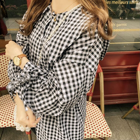 ribbon gingham tunic